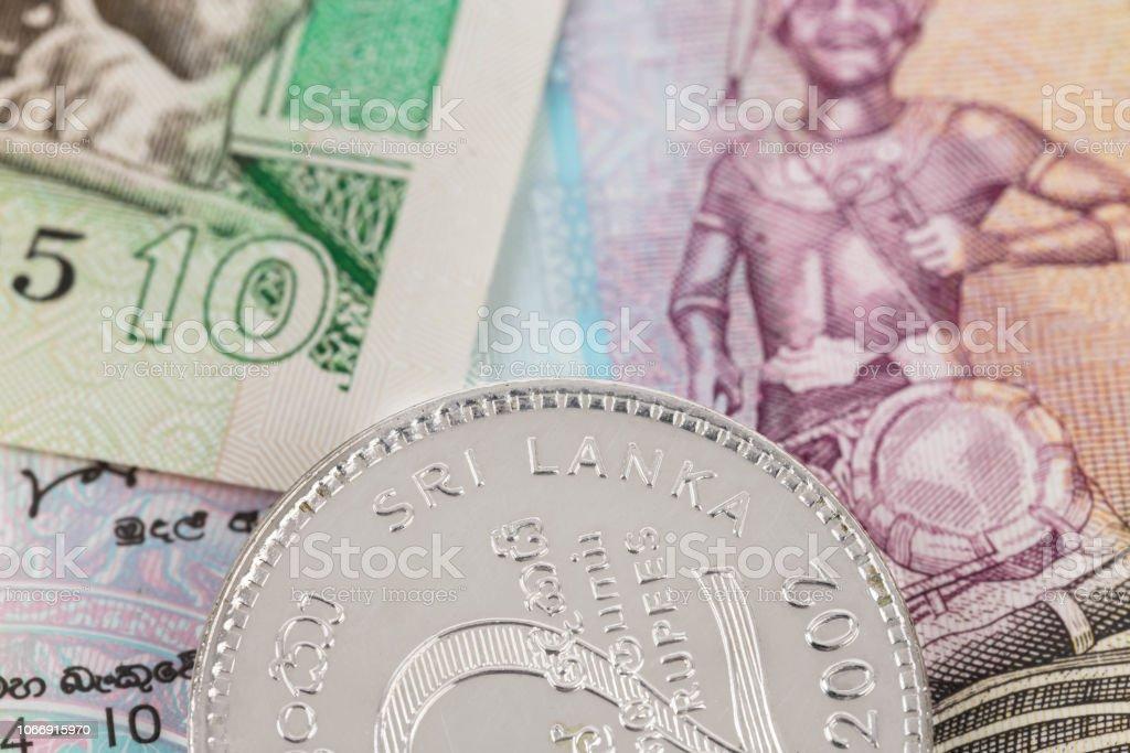 Sri Lanka Money Banknote Focus On Coin Stock Photo & More