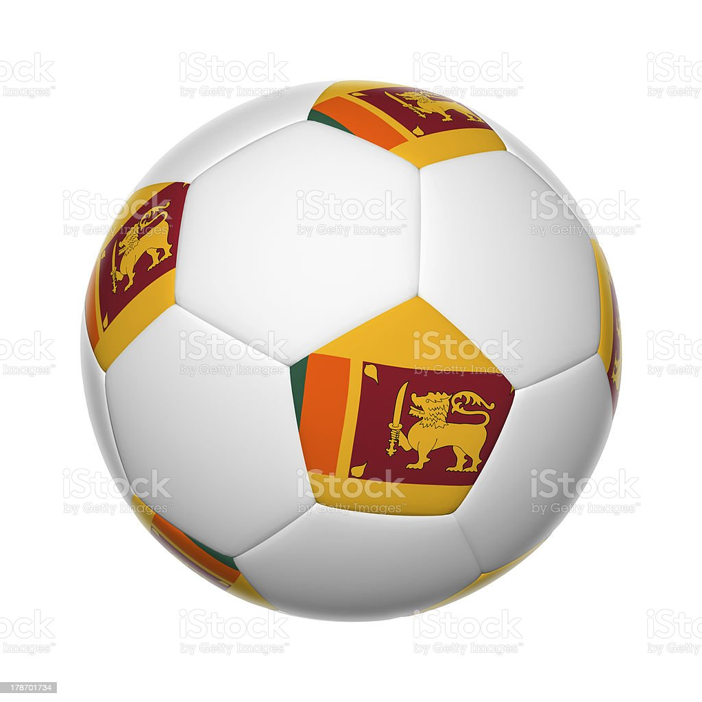 Sri Lanka soccer ball stock photo