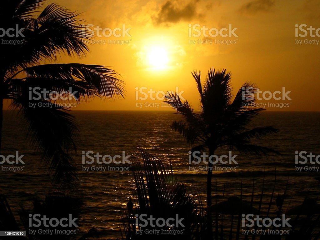 sri lanka sunset 3 royalty-free stock photo