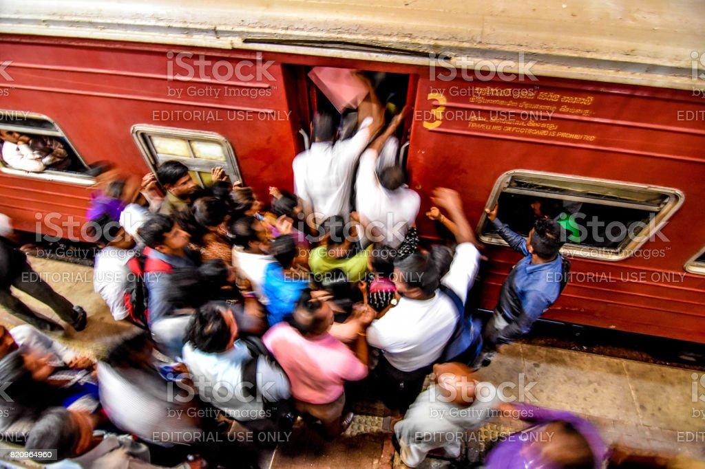 sri lanka transport strike stock photo