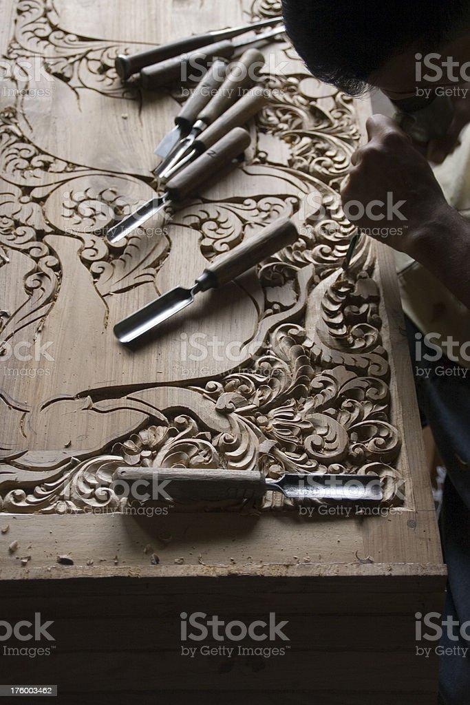 Sri Lanka: Working the Wood stock photo