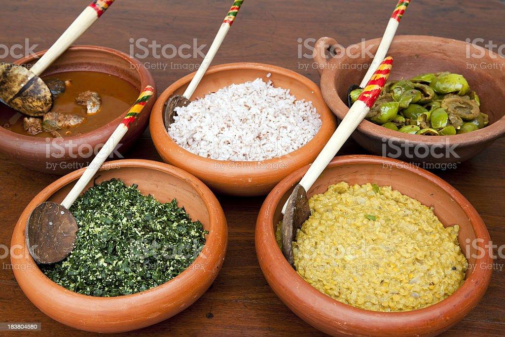 sri lankan cuisine stock photo