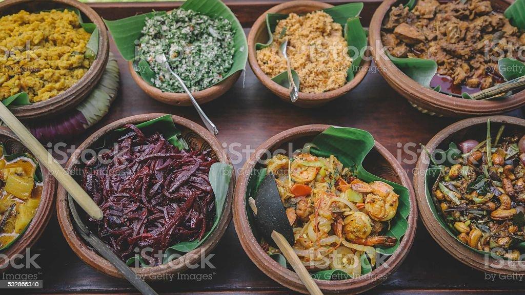Sri Lankan Food stock photo
