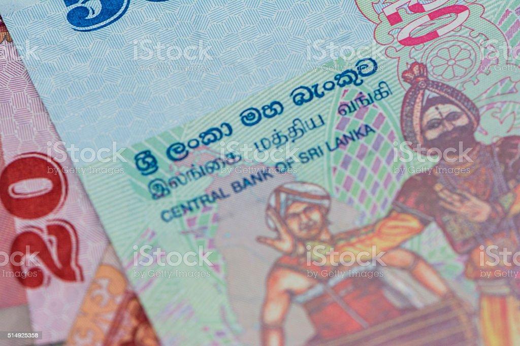 Sri Lankan Rupee Money stock photo