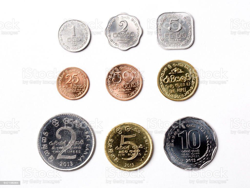 Sri Lankan rupee stock photo