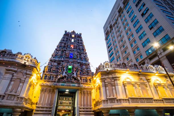 Sri Mahamariamman Temple, Kuala Lumpur, Malaysia. stock photo