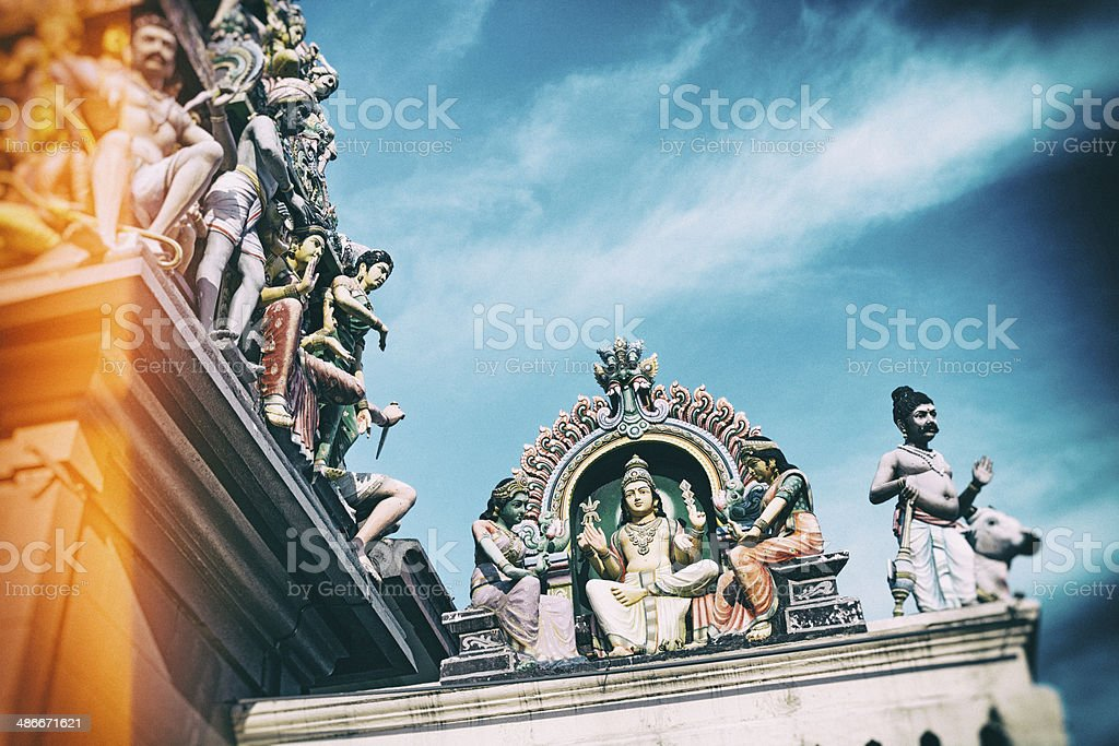 Sri Mariamman Hindu Temple in Singapore. stock photo