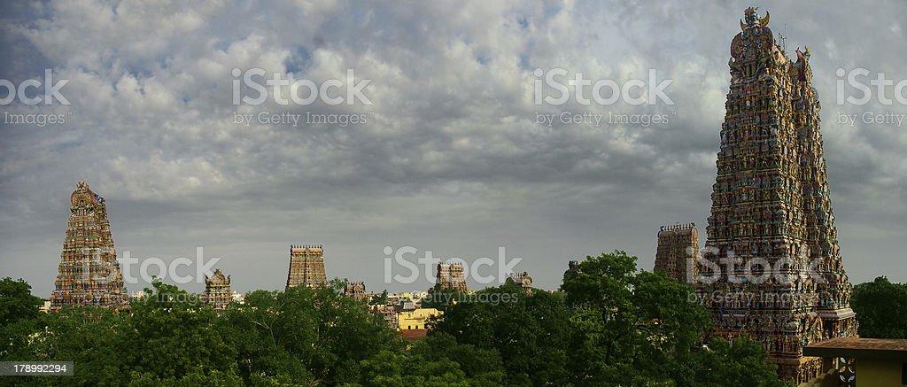 Sri Meenakshi temple panoramic stock photo