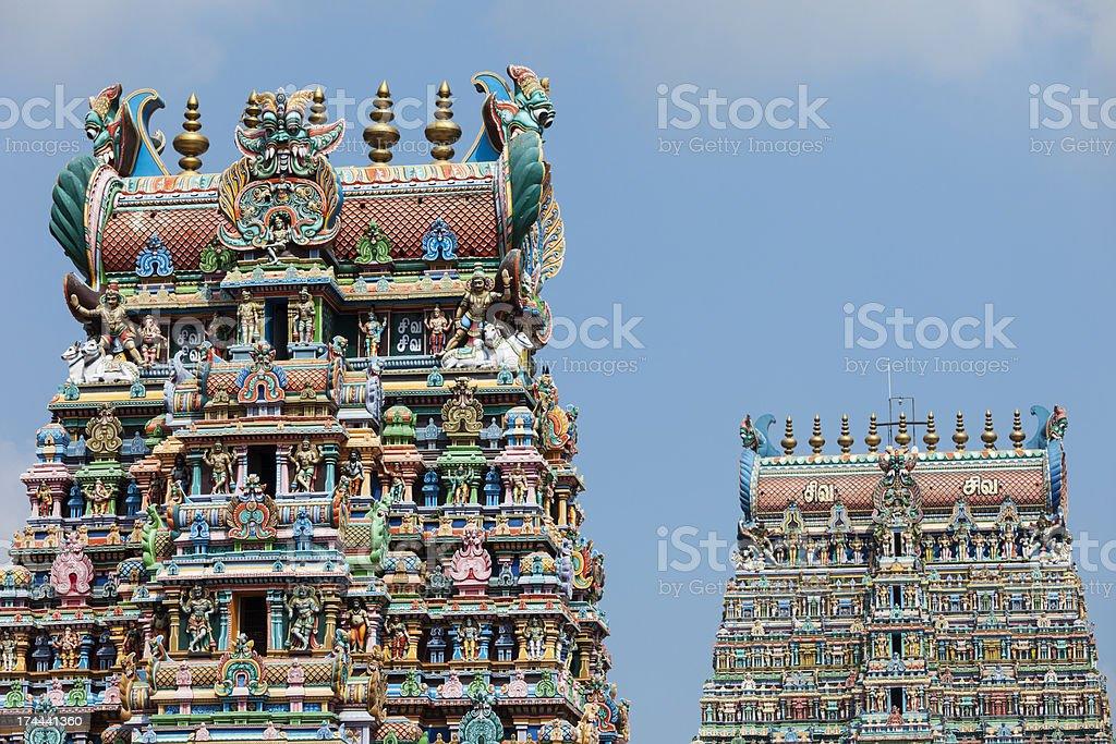 Sri Meenakshi temple stock photo