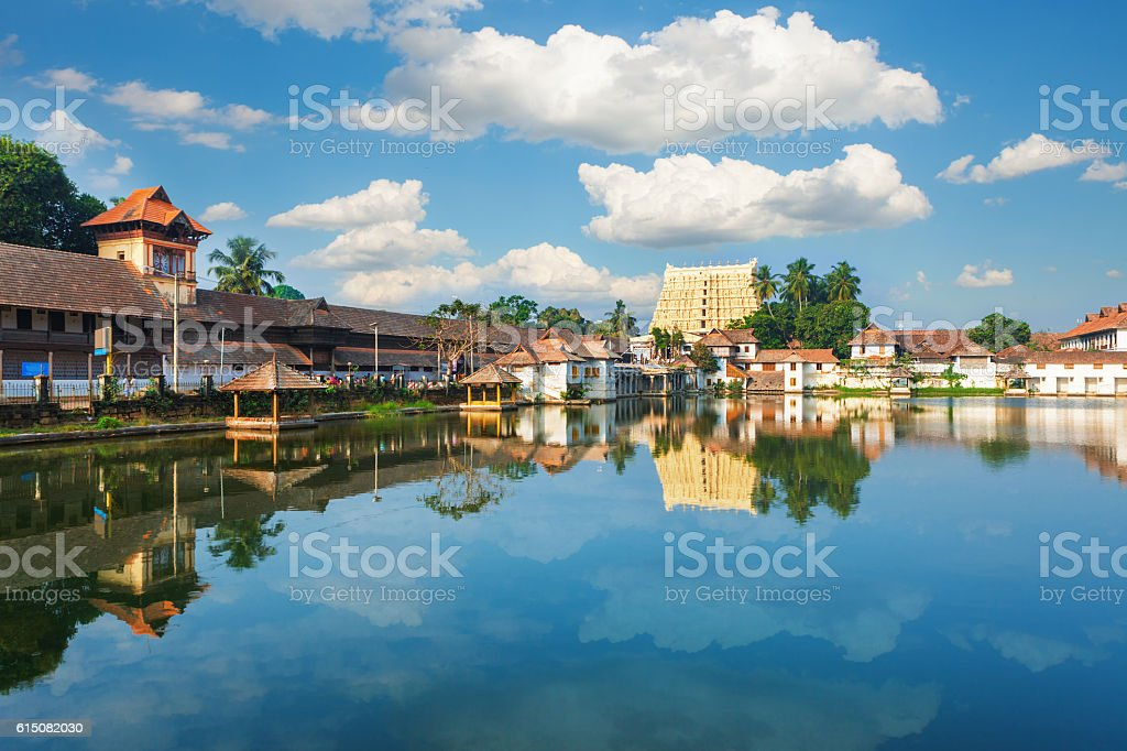 Sri Padmanabhaswamy temple in Trivandrum Kerala India stock photo
