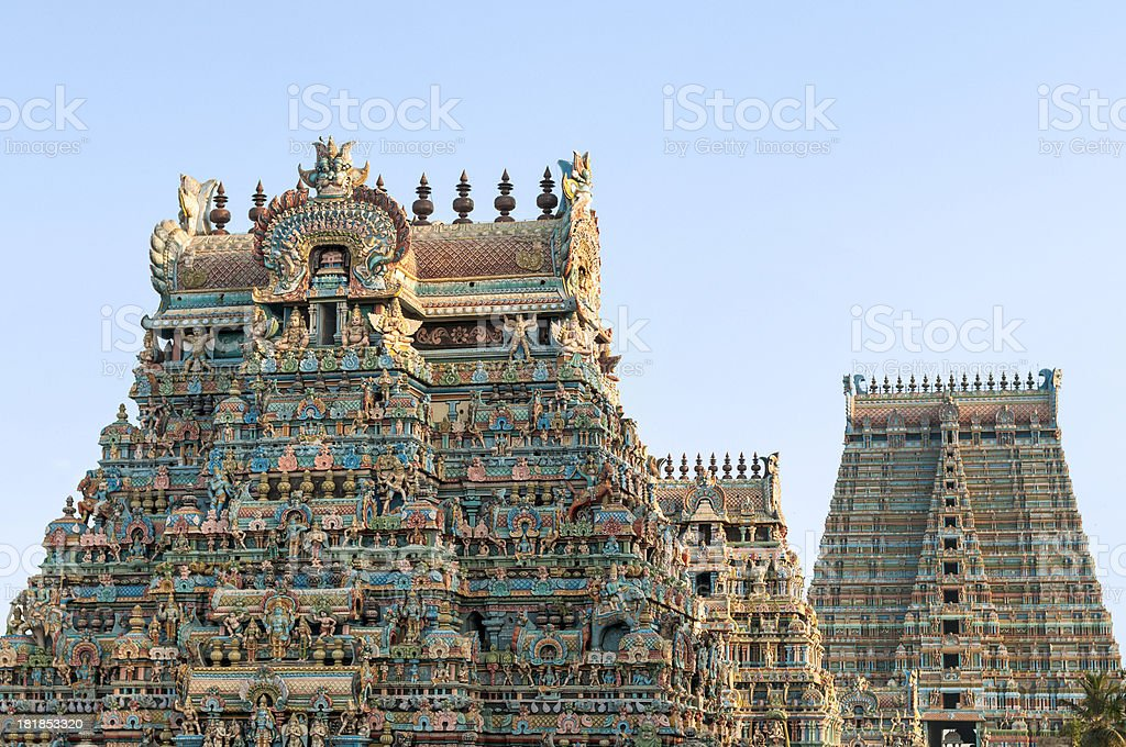 Sri Ranganathaswamy Temple, Tamil Nadu, India. royalty-free stock photo