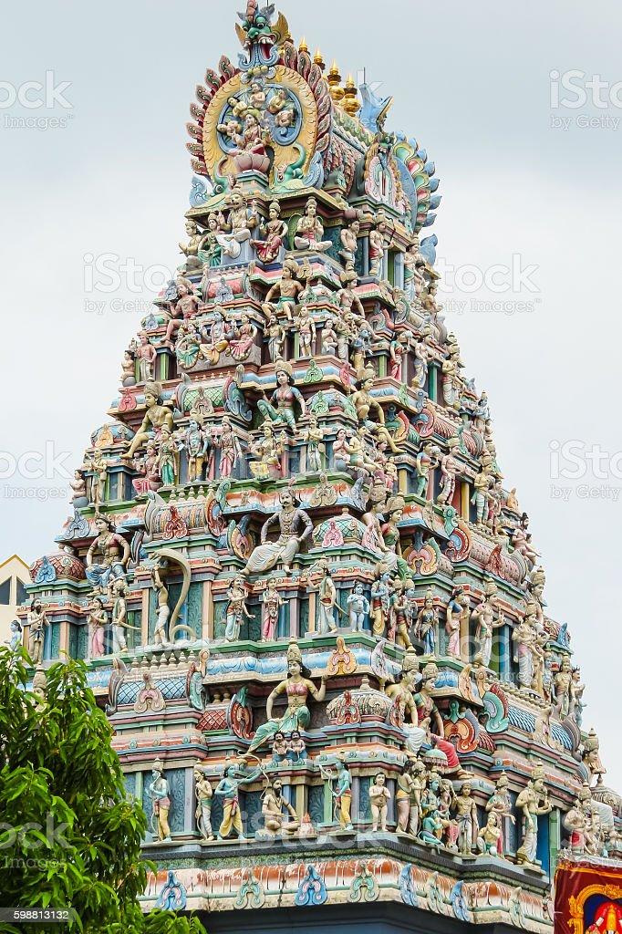 Sri Srinivasa Perumal Temple, Singapore stock photo