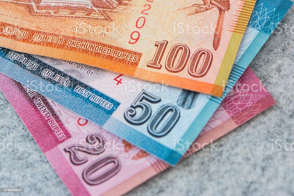 Srilanka Rupee Currency stock photo