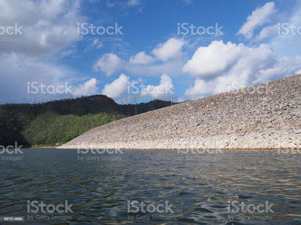 Srinagarind dam stock photo