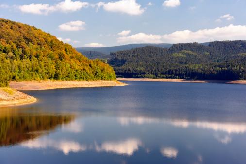 Sösestausee and autumn woods