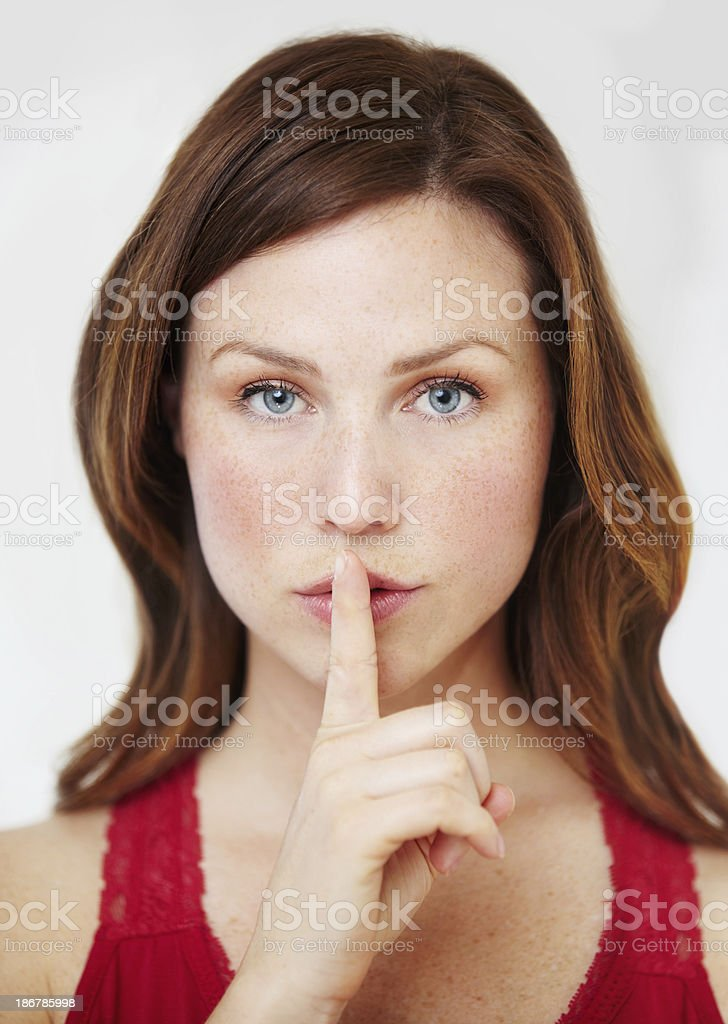Ssh, this is out secret royalty-free stock photo
