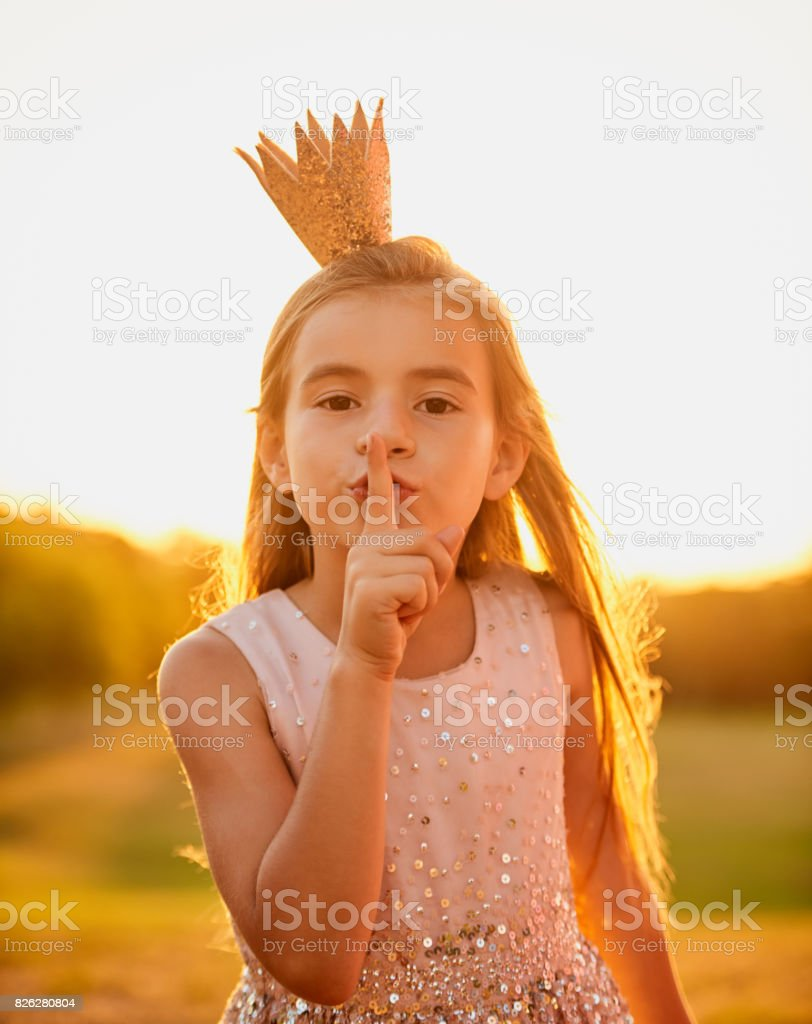 Sshh and listen to your imagination stock photo
