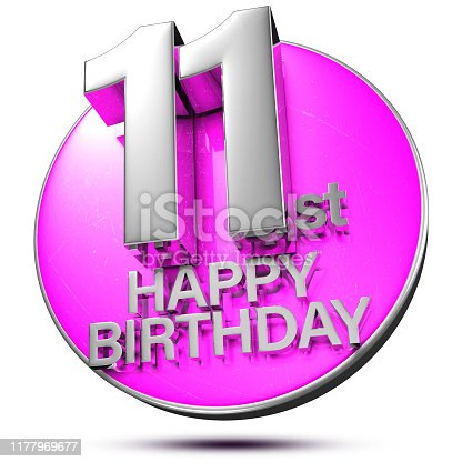 istock 11 st 3d.(with Clipping Path). 1177969677