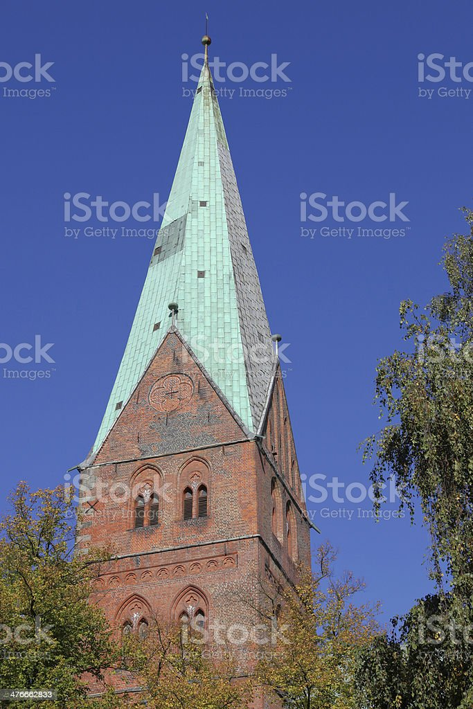 St. Aegidien church in Luebeck, Germany stock photo