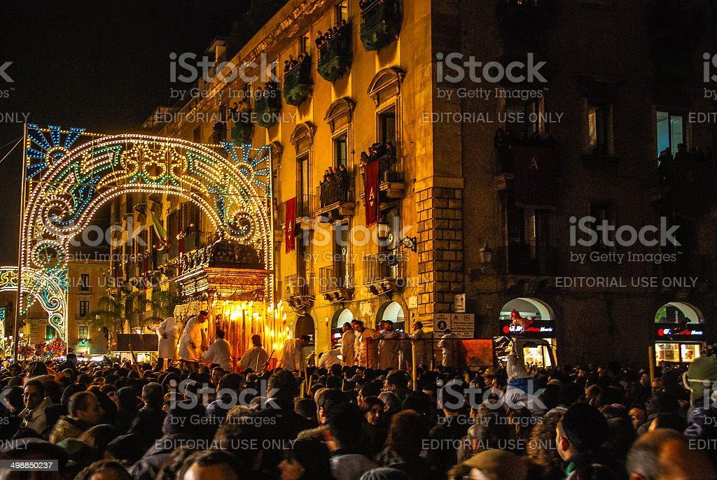 St Agatha Festival stock photo