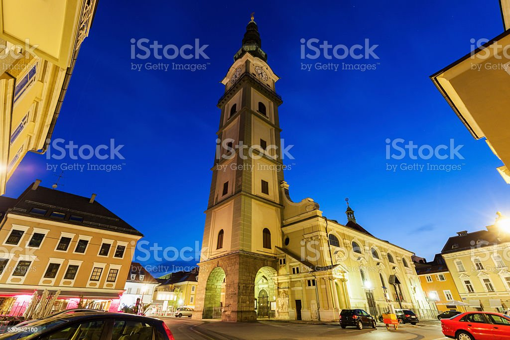 St. Agidiusin Church in Klagenfurt stock photo