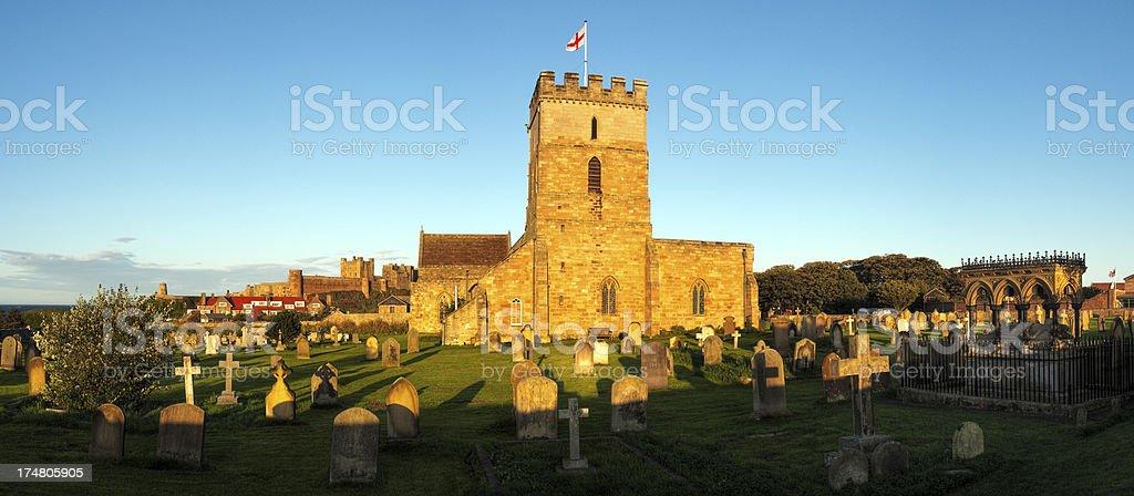 St Aidan's Church, Bamburgh, Northumberland, UK royalty-free stock photo