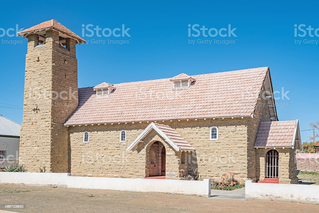 St Albans Anglican Church in Carnavon stock photo