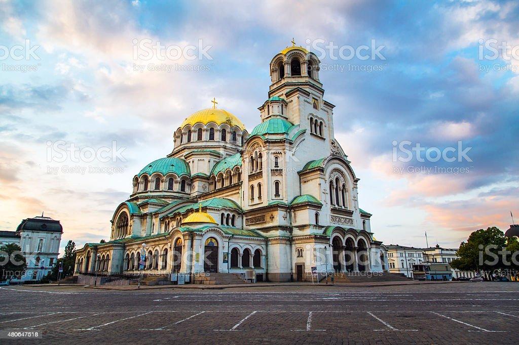 St. Alexander Nevski Cathedral in Sofia, Bulgaria stock photo