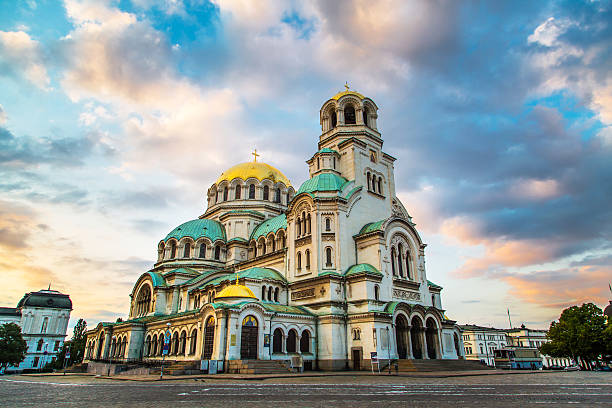 St. Alexander Nevski Cathedral in Sofia, Bulgaria stock photo