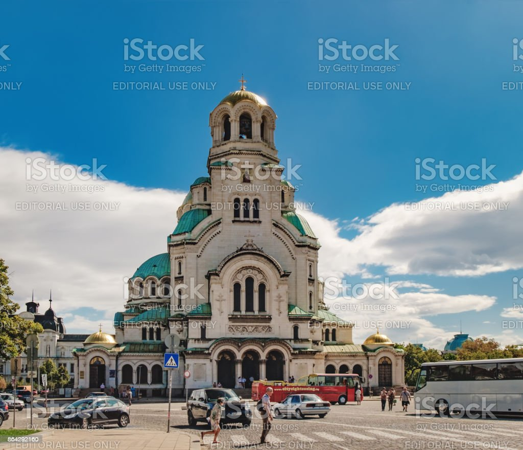 St. Alexander Nevsky Cathedral in Sofia, Bulgaria royalty-free stock photo