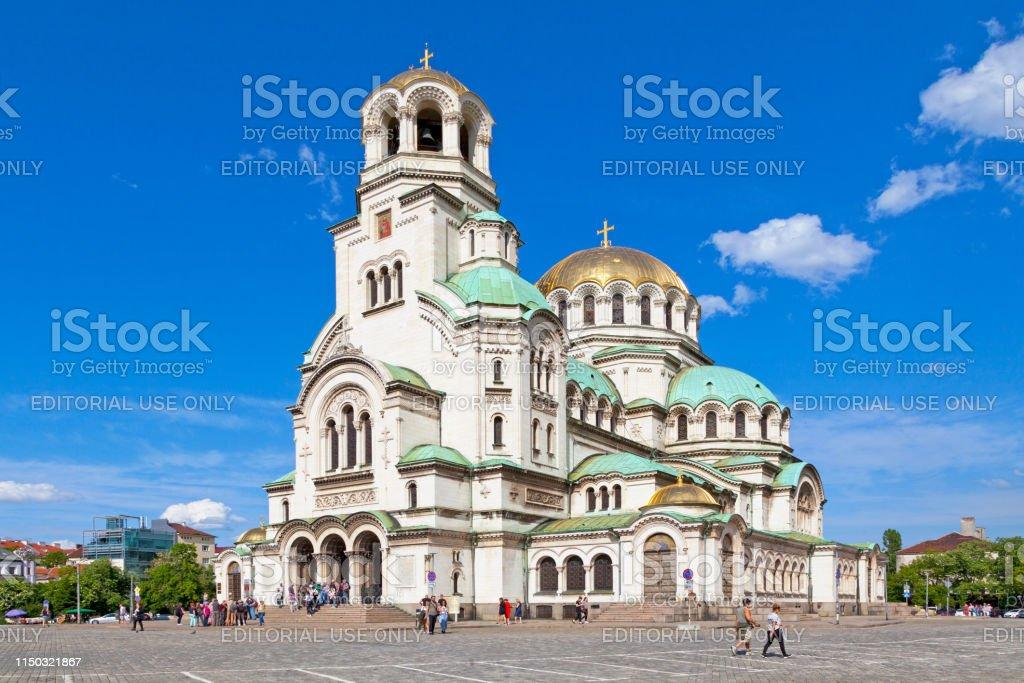 St. Alexander Nevsky Cathedral in Sofia stock photo