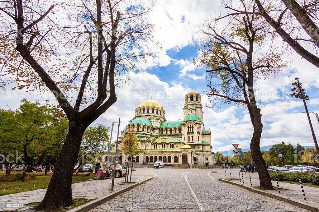 St. Alexander Nevsky Cathedral in Sofia. stock photo