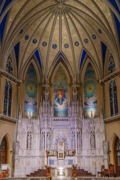St. Alphonsus Church Interior stock photo