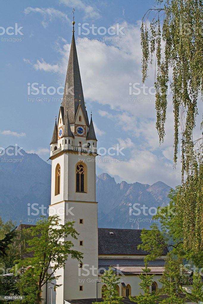 St. Andrae in Lienz stock photo