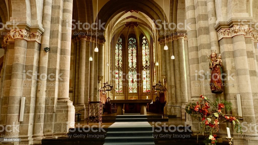 St. Andreas Church in Cologne stock photo