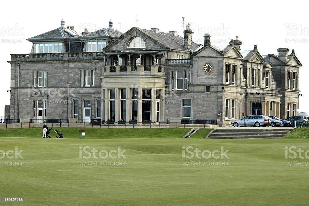 St. Andrew Golf Clubhouse stock photo