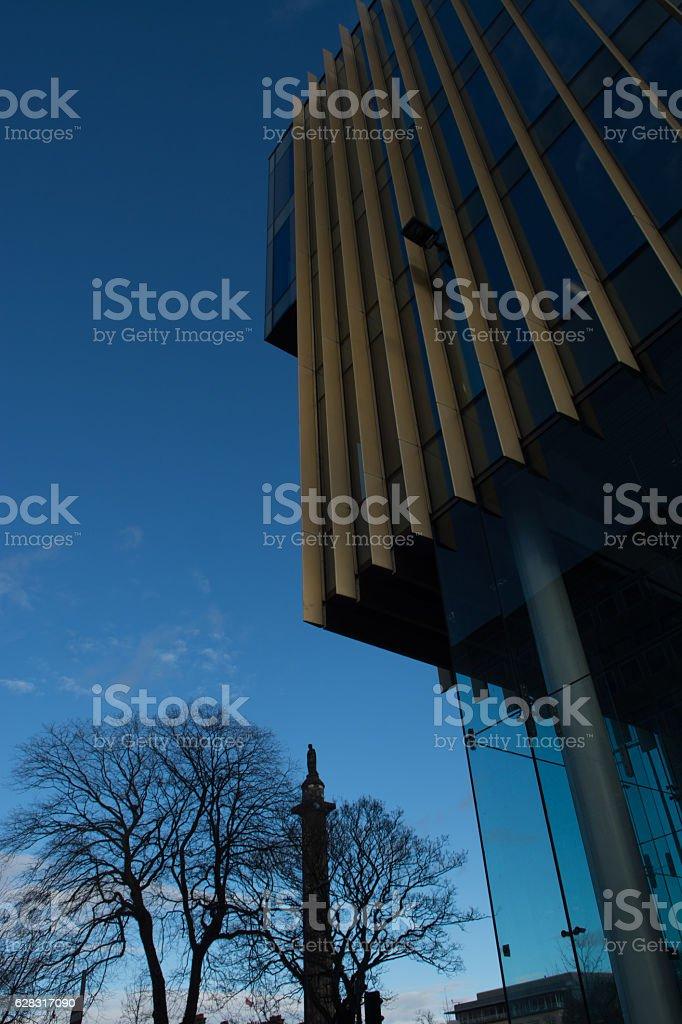 St Andrew Square monument stock photo