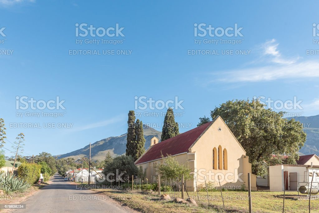 St Andrews Anglican Church in Greyton stock photo