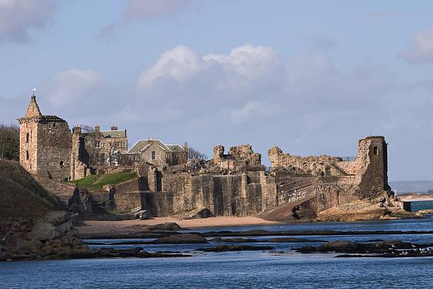 St. Andrews Castle stock photo