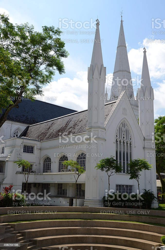 St. Andrew's Cathedral Steps royalty-free stock photo