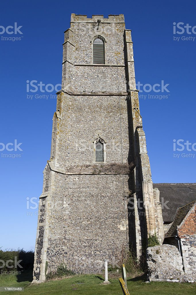 St Andrew's Church, Covehithe, Suffolk, England royalty-free stock photo