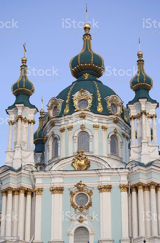 St Andrew's Church in Kiev. stock photo