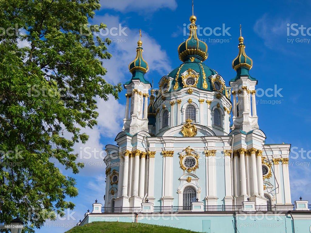 St. Andrew's Church in Kiev. stock photo