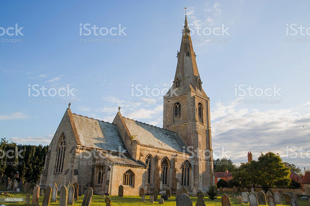 St Andrews Church, Leasingham, Sleaford, Lincolnshire stock photo