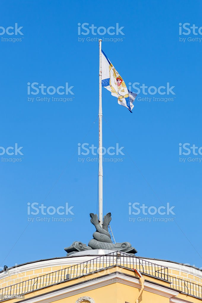 St. Andrew's flag waving in the wind stock photo