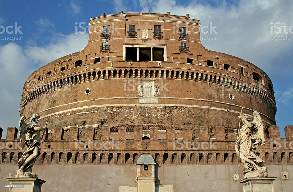 St. Angel Castle in Rome royalty-free stock photo