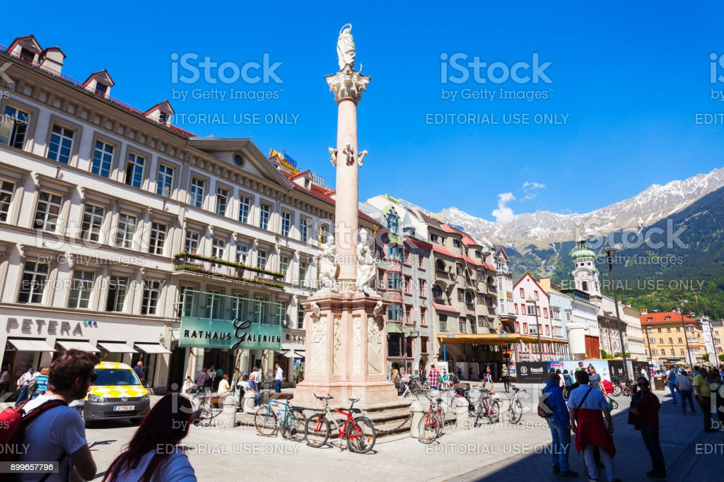 St. Anna Column, Innsbruck stock photo