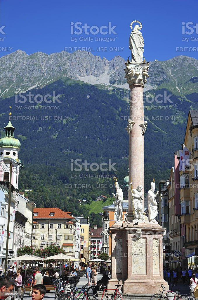 St. Anna's Column in Innsbruck, Austria stock photo