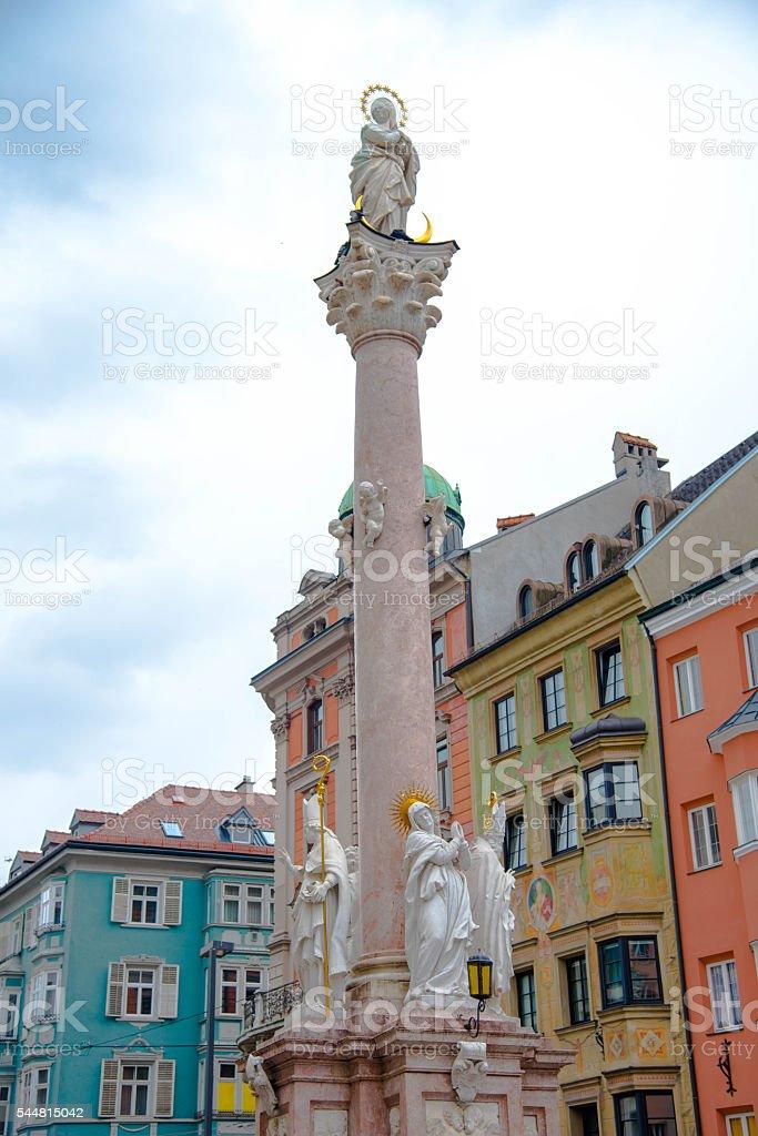 St Anne 's Column - Innsbruck stock photo