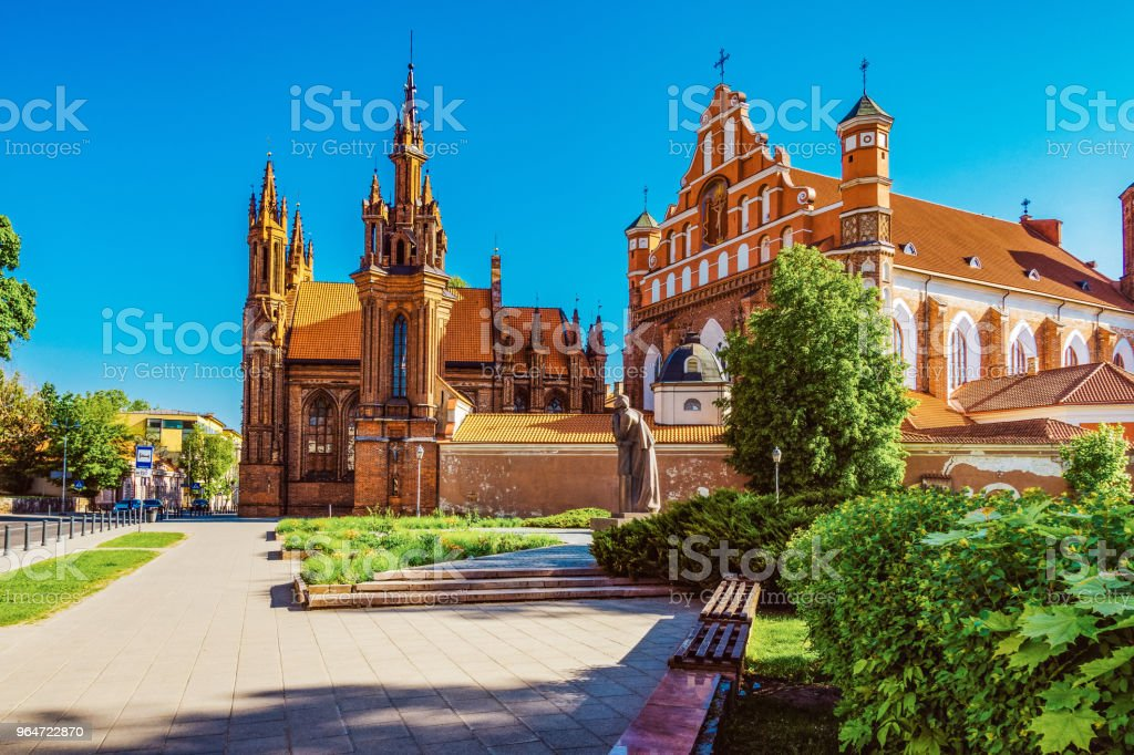 St Anne's church in Vilnius, Lithuania royalty-free stock photo